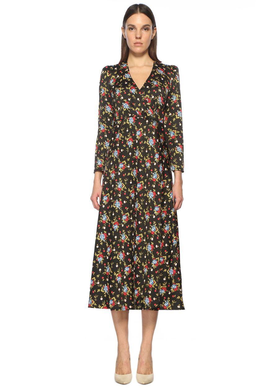 Vivetta Desenli Çok Renkli Midi Elbise